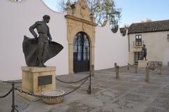 Статуи известных bullfighters Стоковые Фото