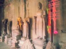 Статуи изображения Будды на kor Wat Ang Стоковые Фотографии RF