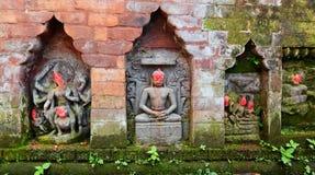 Статуи индусских божеств на общественном памятнике bhaktapur Непал Стоковая Фотография RF