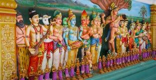 Статуи индусского виска стоковая фотография
