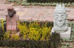 Статуи идола от Tiwanaku Стоковые Изображения RF
