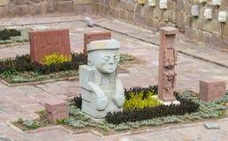 Статуи идола от Tiwanaku Стоковые Изображения