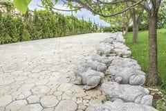 Статуи каменных лягушек Стоковая Фотография RF