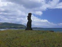 Статуи камня Moai на Rapa Nui Стоковая Фотография