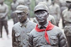 Статуи красных героев на музее Jianchen связывают, Anren, Китай Стоковое Изображение