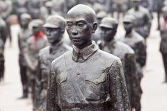 Статуи красных героев на музее Jianchen связывают, Anren, Китай Стоковое фото RF