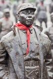 Статуи красных героев на музее Jianchen связывают, Anren, Китай Стоковые Фото