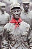 Статуи красных героев на музее Jianchen связывают, Anren, Китай Стоковая Фотография RF