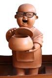 Статуи монаха глины счастливые Стоковые Изображения