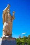 Статуи моста Бургоса Сан Pablo на реке Arlanzon стоковая фотография rf