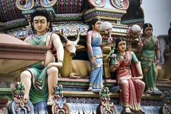 Статуи на индийском индусском виске стоковое фото