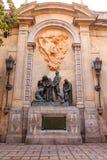 Статуи на стене церков Барселоны Стоковые Изображения RF