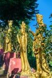 Статуи на 10 тысяч монастыре Buddhas в Гонконге Стоковые Изображения