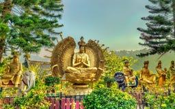 Статуи на 10 тысяч монастыре Buddhas в Гонконге Стоковое фото RF