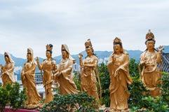 Статуи на 10 тысяч Buddhas Стоковые Фотографии RF
