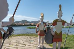 Статуи римских солдат Стоковое Изображение RF