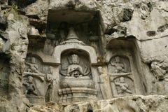 Статуи скалы klippe Lingyin Temple Стоковая Фотография RF