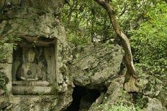 Статуи скалы klippe Lingyin Temple Стоковое Фото