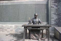 Статуи старых студентов бронзовые Стоковое Фото