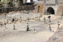 Статуи сделанные из круглых камней Стоковые Фотографии RF