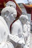 72 статуи следующих конфуцианского виска Стоковые Фото