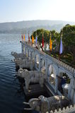 Статуи слона дворца удовольствия Стоковое Фото