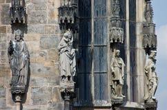 статуи уступчика церков готские Стоковое Фото