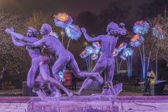 Статуи фонтана Хельсингборга Dromljus Стоковые Изображения