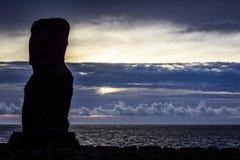 Статуи Moai, остров пасхи, Чили Стоковые Изображения RF
