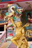 статуи naja китайских богов золотистые Стоковое Изображение RF
