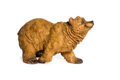 Статуэтка бурого медведя гипсолита стоковое изображение