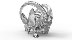 Статуэтка роскоши козерога диаманта Стоковое Фото
