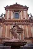 статуэтка фонтана купидона Стоковая Фотография RF