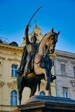 Статуя ¾ im von BuÅ ‡ iÄ  Josip JelaÄ отсчета, Загреб, Хорватия стоковые фото