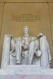 Статуя Авраама Линкольна в мемориале Линкольна в DC Вашингтона Стоковые Фото