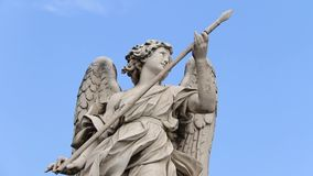 """Статуя ангела на Ponte Sant """"Angelo акции видеоматериалы"""