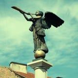 Статуя ангела на Uzupio, Вильнюсе, Литве Стоковые Изображения