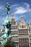 Статуя Антверпена Стоковая Фотография RF