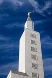 Статуя Анджела Moroni на виске Лос-Анджелеса Калифорнии Стоковые Фотографии RF