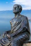 Статуя Аристотеля большой греческий философ Стоковая Фотография