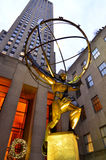 Статуя атласа на Манхаттане Стоковые Фотографии RF