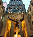 Статуя атласа, Нью-Йорк, NY, США Стоковое Изображение