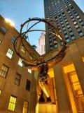 Статуя атласа, Нью-Йорк, NY, США Стоковое Фото