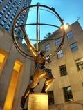 Статуя атласа, Нью-Йорк, NY, США Стоковое фото RF