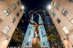 Статуя атласа - центр Рокефеллер, Нью-Йорк Стоковые Изображения RF