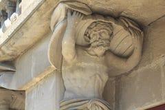 Статуя атласа Стоковые Изображения RF