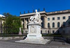 Статуя Александра von Гумбольдта Стоковая Фотография