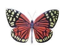 Статуя бабочки изолированная на белизне Стоковые Изображения RF