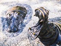 Статуя бегемота стоковая фотография
