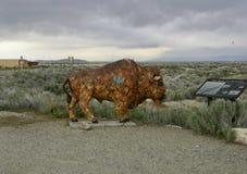 Статуя бизона на парке островного государства антилопы, Солт-Лейк-Сити, Юте Стоковое Фото